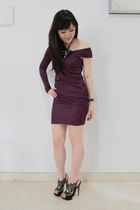 purple alexwang dress - black NKirkwood shoes