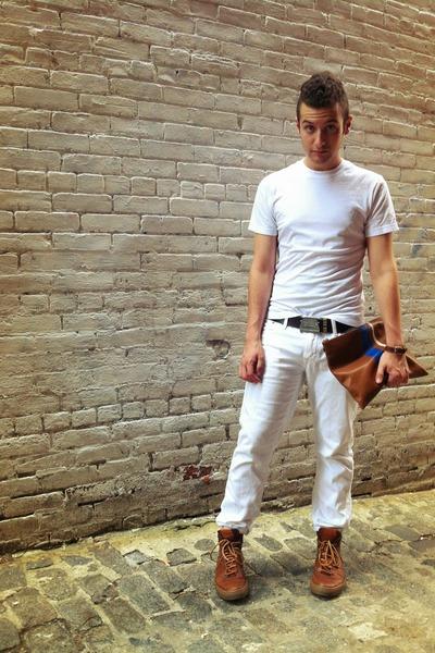 car buckle Paul Smith belt - Lucky Brand jeans - stripe coach bag