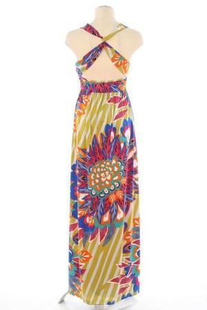 mustard floral michal  zoe dress