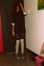Black-vintage-dress-black-h-m-tights-beige-h-m-stockings-gray-diy-boots