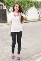 skinny Forever 21 jeans - K-Fab necklace