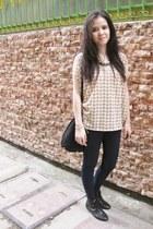 skinny Zara jeans - Prada bag - Forever 21 necklace