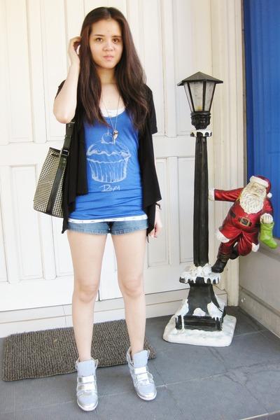 Roxy top - denim Mudd shorts