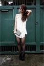 Booties-rusty-lopez-boots-black-bandage-pink-manila-skirt