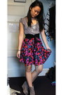 Wedge-dolce-vita-boots-urban-outfitters-skirt-black-forever-21-belt