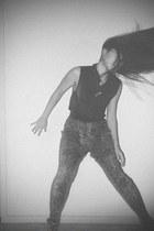 Topshop shirt - Zara pants - Charles & Keith heels