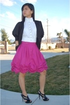 Bebe blazer - Victorias Secret top - christian dior thrifted skirt - Ebay shoes