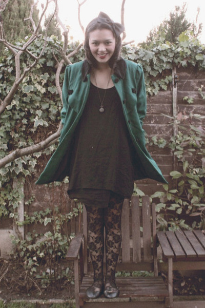 Pins And Needles Clothing Custom Black Black Layers Y Boho Dresses Dark Green Black Green Pins