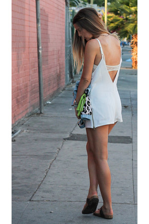 white zipper Stone Cold Fox romper