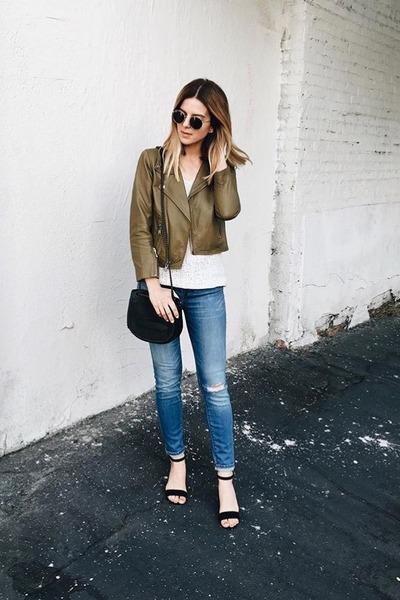 leather Ganni jacket