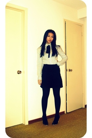 skirt - blouse - tights