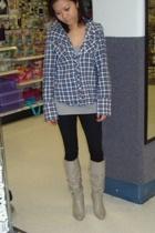 vintage blouse - - boots
