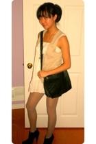 Jacob vest - Urban Outfitters blouse - Auntys Closet purse - Costa Blanca boots