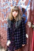 Forever 21 coat - Steve Madden boots - MinkPink dress - Express necklace