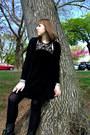Black-troopa-steve-madden-boots-black-velvet-urban-outfitters-dress