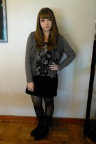 Gap jacket - Madden Girl boots - HUE tights - Forever21 necklace - H&M top