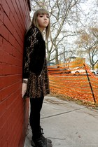 Forever 21 jacket - Steve Madden boots - Urban Outfitters dress