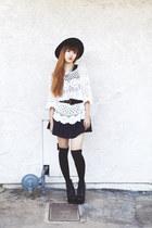 black Backless Dress dress - white Chicwish sweater