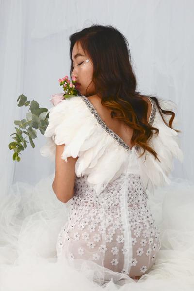 angel organza handmade dress