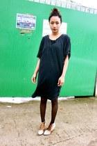 bronze Matiko boots - black thrifted dress