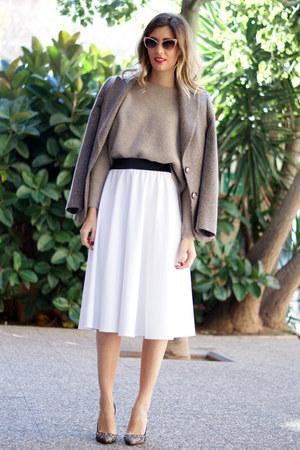 dark khaki inlovewithfashion jumper - light brown zeroUV sunglasses