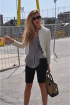 loewe bag - Zara blazer - Mango shorts - Tom Ford sunglasses - loewe heels