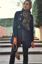 Louis Vuitton scarf - Forever 21 coat - Zara jeans - Purificacion Garcia bag