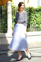 heather gray OASAP sweater - silver OASAP skirt