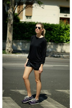 black tom top shirt - black romwe shorts