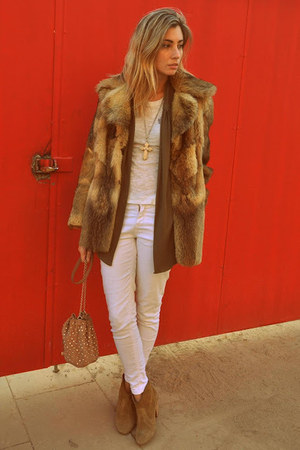 white bought in nyc t-shirt - light brown isabel marnt boots