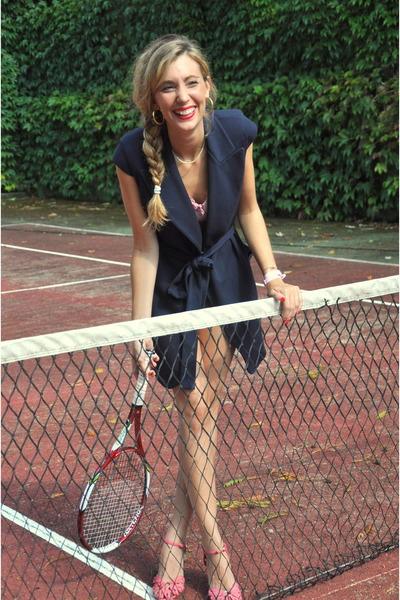 miss ixty heels - Mango vest - Vintage costume bodysuit