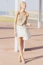 PERSUNMALL skirt - YSL bag - vintage top - PERSUNMALL bracelet - Zara heels