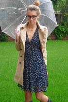 Topshop dress - Zara coat