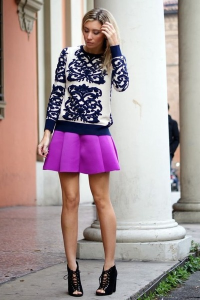 amethyst choiescom skirt - navy choiescom jumper