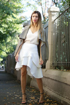 ivory H&M skirt