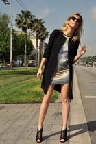 Sheinside dress - DKNY coat - Topshop heels