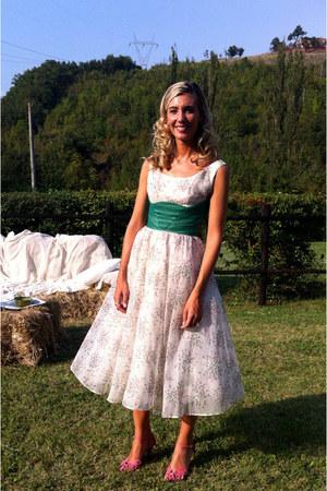 off white vintage dress