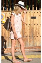 bubble gum Zlz dress - burnt orange loui bag