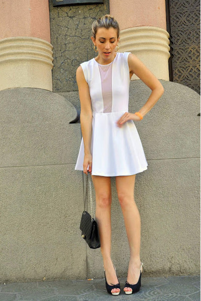 "White Dresses, Black Chanel Bags, Black Chanel Heels | ""White Out ..."