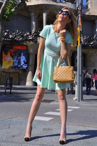 Chanel Beige Sunglasses  aquamarine h m dresses beige chanel bags black zara sunglasses
