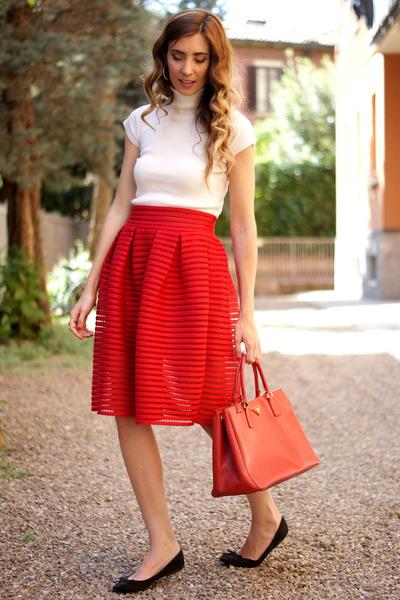 red OASAP skirt