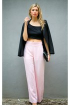 black tom top top - light pink In Love with Fashion pants