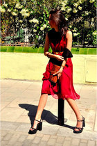 ruby red Topshop dress