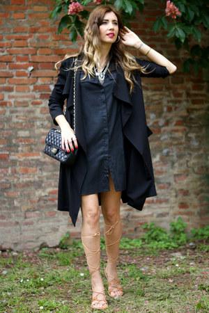 black Elite fashion 99 dress - silver Happiness Boutique necklace