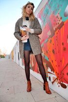 light brown united colors of benetton coat - brown Topshop boots