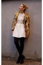 black Goddiva heels - ivory Hedonia dress
