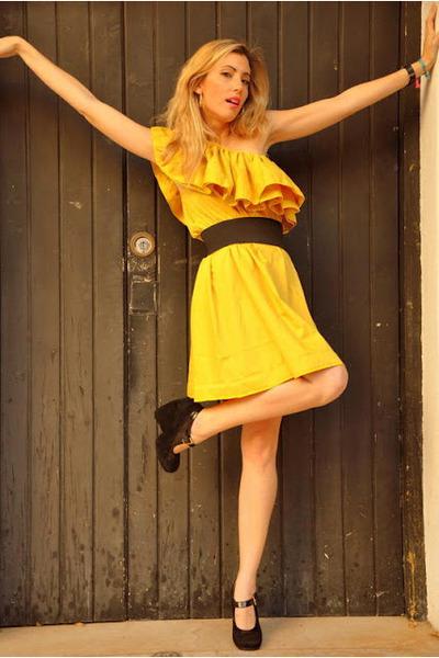 mustard wwwsheinsidecom dress - black Marc Jacobs wedges