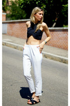 black shopping bare top - ivory PERSUNMALL pants
