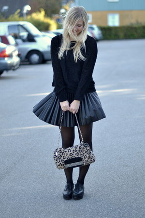 black COS shoes - cream Jimmy Choo for h&amp;m bag - black H&amp;M skirt