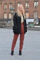 black COS jacket - black H&M boots